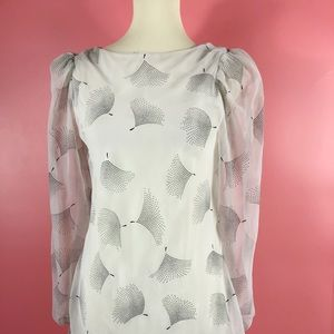 Vtg 80s Layered Dandelion Print Midi Dress SM
